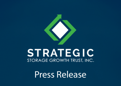 Strategic Storage Growth Trust, Inc. Reports 2018 Third Quarter Results