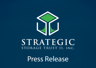 Strategic Storage Trust II, Inc. Reports 2018 Fourth Quarter and Fiscal Year End Results
